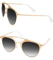 aqs women's alfie 52mm aviator sunglasses - gold