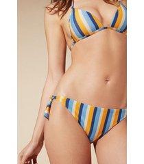 calzedonia cristina tie brazilian bikini bottoms woman blue size 3