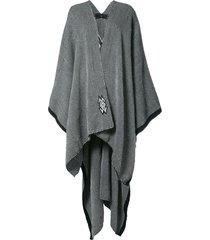 voz knitted draped cape - black