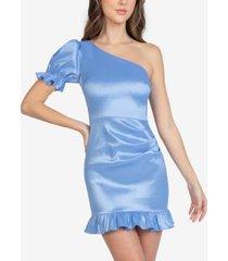 b darlin juniors' ruffled one-shoulder dress