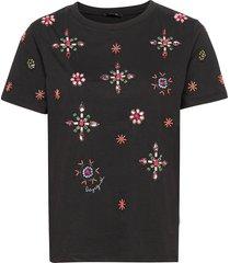 ts bri-you t-shirts & tops short-sleeved svart desigual