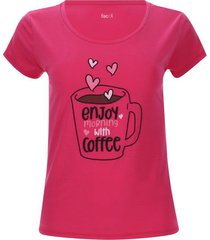 camiseta descanso coffee color rosado, talla xs