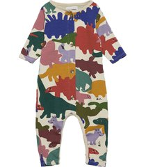 dinos all over fleece overall jumpsuit multi/patroon bobo choses
