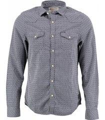 garcia storm blue slim fit overhemd