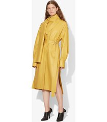 proenza schouler leather scarf dress sand/yellow 4