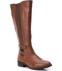 botas largas de mujer marca xti color cafe xti - marrón