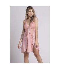 camisola plus size bella fiore modas romantic renda lis rosê