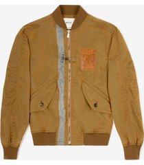 printed bomber jacket brown 50