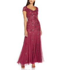 adrianna papell cutout-back embellished gown