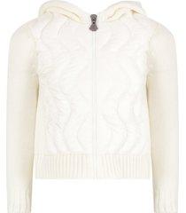 moncler ivory sweatshirt for girl