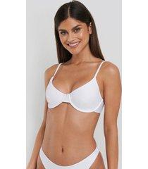 na-kd swimwear basic bikini cup bra - white