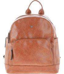 mochila tirantes marrón i-d