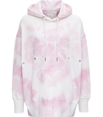 givenchy tye dye hoodie in white and pink cotton