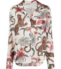 desmond & dempsey soleia pajama set - neutrals