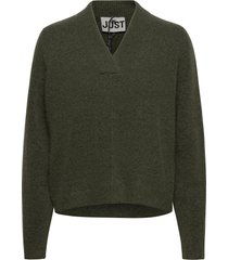 chica knit gebreide trui groen just female