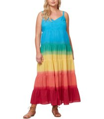 jessica simpson plus trendy cotton ombre tiered dress
