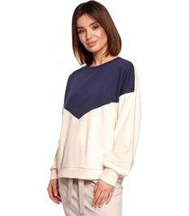 sweater be b196 colourblock pullover top - model 3