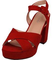 sandalia iloa rojo weide