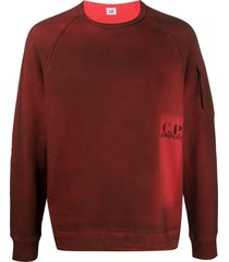 c.p. company printed logo sweatshirt - red