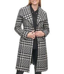 women's karl lagerfeld paris wool belted wrap coat, size x-large - black
