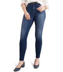 women's madewell 10-inch high rise skinny jeans, size 32 - blue