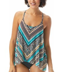 coco reef current mesh flyaway underwire tankini top women's swimsuit