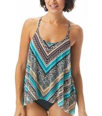coco reef current mesh flyaway underwire tankini top women's swimsuit
