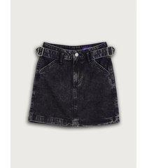 falda largo mini denim unicolor para mujer freedom 02186