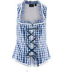 corsetto bavarese con cerniera (blu) - bpc bonprix collection