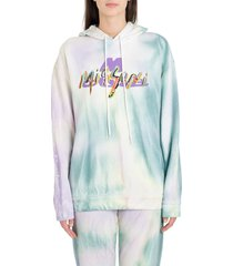 m missoni tie-dye hoodie with printed and embroidered logo