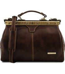 tuscany leather tl10038 michelangelo - borsa medico in pelle testa di moro