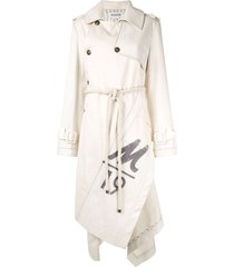 monse canvas trench coat - neutrals