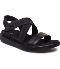 flowt w shoes summer shoes flat sandals svart ecco