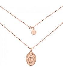 naszyjnik z różowym złotem z medalikiem