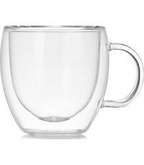 doble capa heat-resistant un vaso de vidrio de borosilicato de taza de