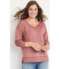 maurices womens solid v neck sweatshirt brown