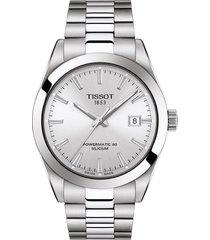 women's tissot t-classic gentleman powermatic bracelet watch, 29mm
