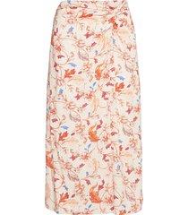 objobdulia hw skirt knälång kjol orange object