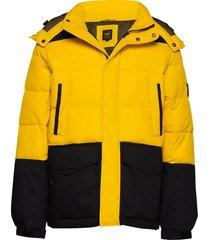 mid puffer jacket gevoerd jack geel lee jeans