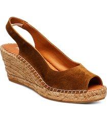 dot sandalette med klack espadrilles brun pavement