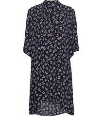 penny dress knälång klänning blå nué notes