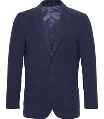 d2. slim moleskin blazer blazer colbert blauw gant