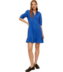 vestido azul royal mng