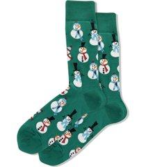 hot sox men's snowmen crew socks