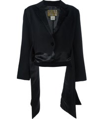 kenzo pre-owned side draped jacket - black