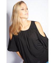 blusa negra skanda camelia