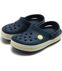 babuche crocs menino perfuros azul-marinho