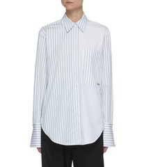 colourblock panel stripe shirt