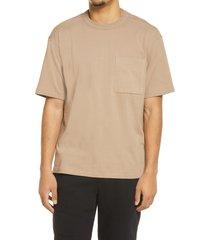 bp. unisex cotton pocket t-shirt, size medium - brown