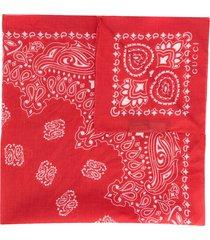 gucci bandana printed neckscarf - red